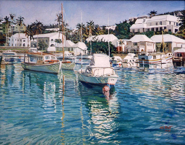 Bermuda Poster featuring the painting Flatts Inlet by Otto Trott