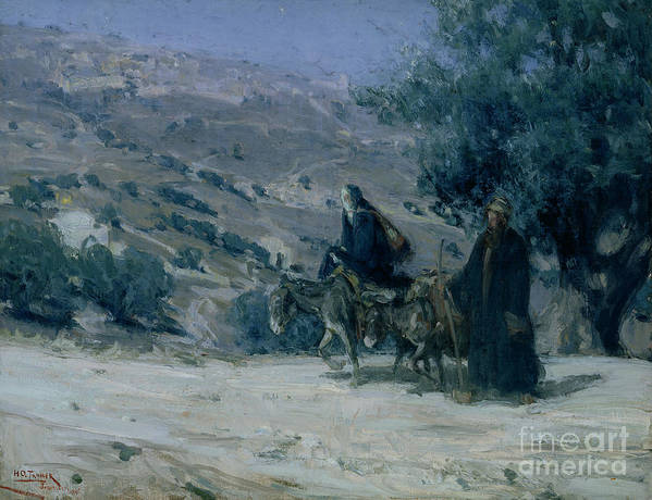 Flight Into Egypt Poster featuring the painting Flight Into Egypt by Henry Ossawa Tanner