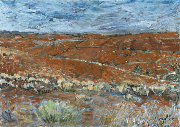 Australia Poster featuring the painting Flinders Ranges by Joan De Bot