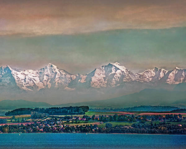 Switzerland Poster featuring the photograph Floating Swiss Alps by Hanny Heim