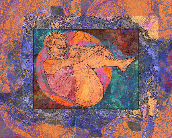 Woman Poster featuring the digital art Floating Woman by Mary Ogle