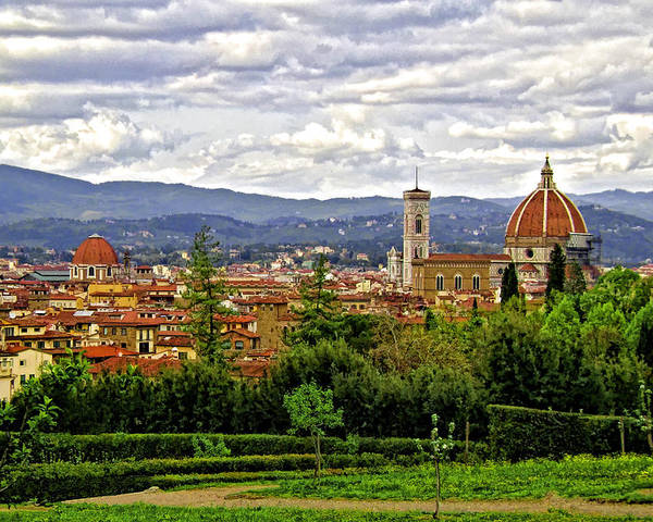 Florence Poster featuring the photograph Florence Skyline by Lynn Andrews