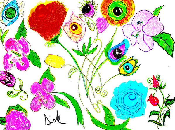 Spring Flowers Poster featuring the painting Flores De Primavera by Vanessa Sisk