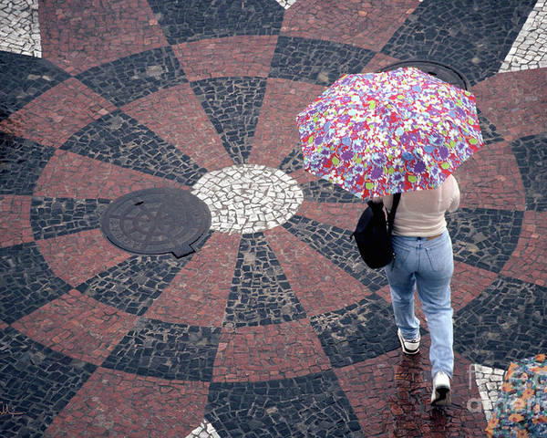 Rain Poster featuring the photograph Florida - Umbrellas Series 1 by Carlos Alvim