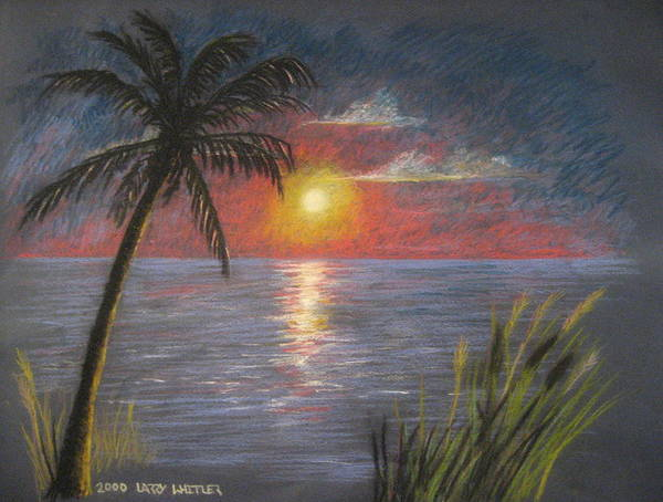 Sunset Poster featuring the pastel Florida Sunset by Larry Whitler