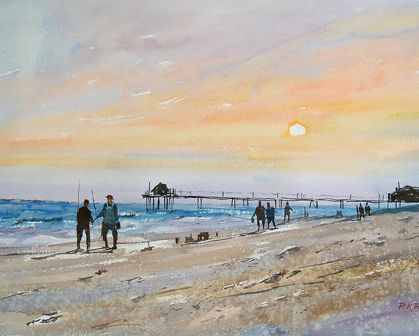 Landscape Poster featuring the painting Florida Sunset by Ryan Radke