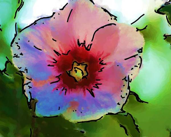 Landscape Poster featuring the photograph Flower 8-15-09 by David Lane