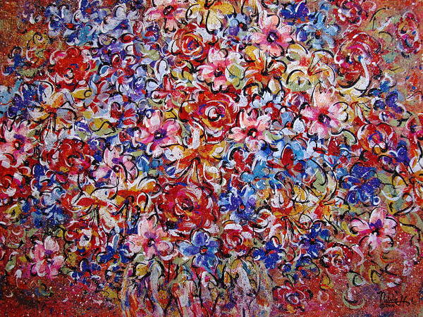 Flowers Poster featuring the painting Flower Passion by Natalie Holland