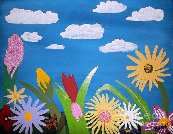 Flower Poster featuring the drawing Flower by Sherri Gill