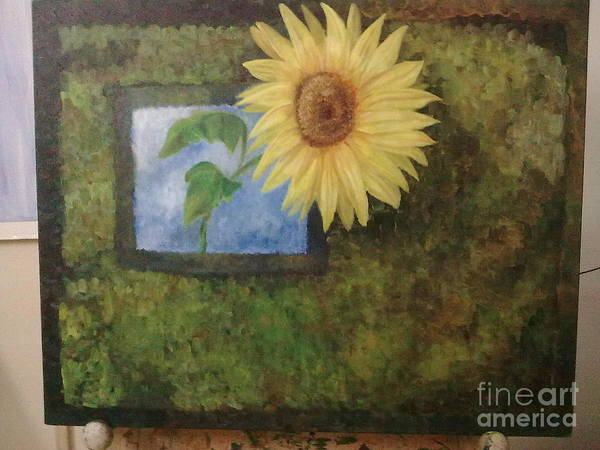 Sunflower Poster featuring the painting Flowerpower by Asha Porayath