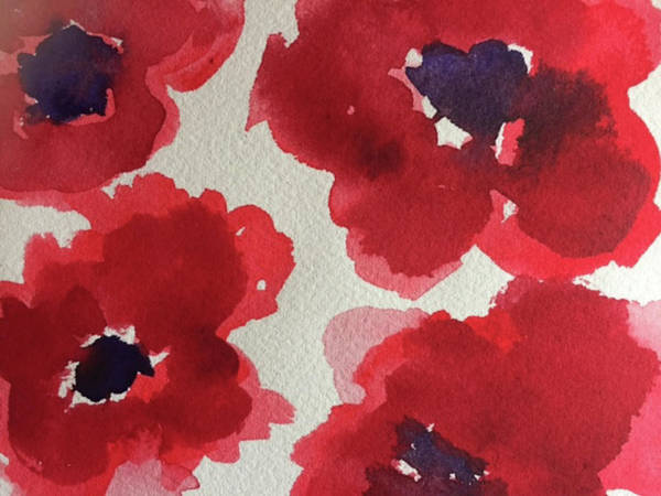 Poppy Poster featuring the painting Poppy Happiness by Bonny Butler