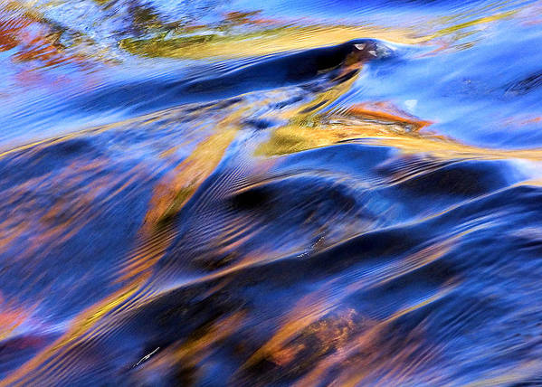 Colorful Water Poster featuring the photograph Flowing Water In Fall by Joanne Baldaia