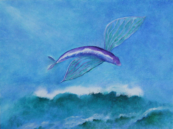 Fish Poster featuring the painting Flying Fish by Rf Hauver