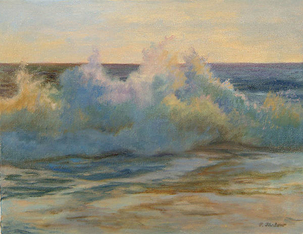 Waves Poster featuring the painting Foaming Ocean Waves by Phyllis Tarlow