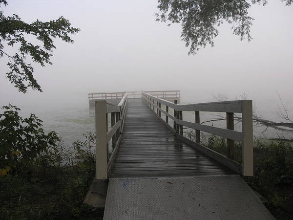 Docks Poster featuring the photograph Fog On The Dock by Janis Beauchamp