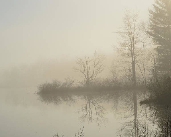 River Maine Fog Dream Poster featuring the photograph Fog On The River by Sheila Price
