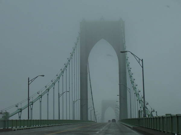 Newport Poster featuring the photograph Foggy Day by Jeff Porter