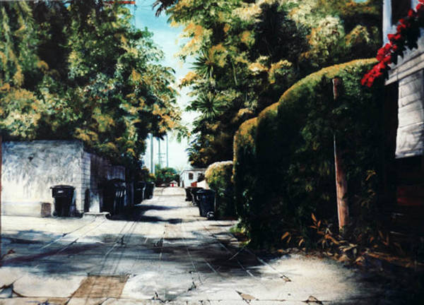Cityscapes Poster featuring the painting Foliage by Duke Windsor