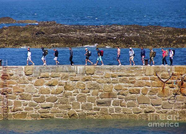 Cornwall Poster featuring the photograph Follow The Yellow Brick Road by Terri Waters