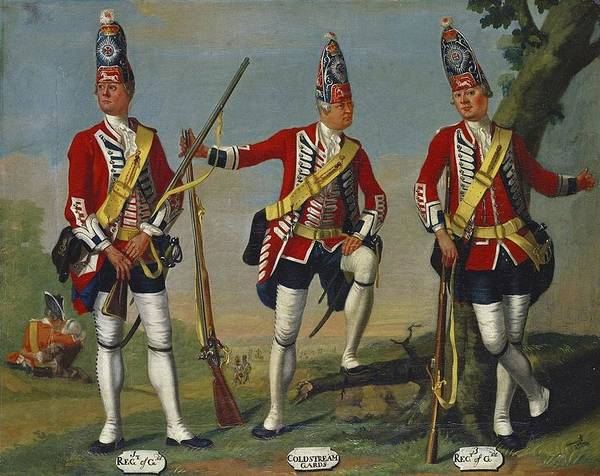 David Morier (1705 -70) Grenadiers Poster featuring the painting Foot Guards by David Morier