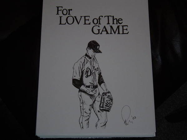 Ink Poster featuring the drawing For Love Of The Game by Raymond Nash