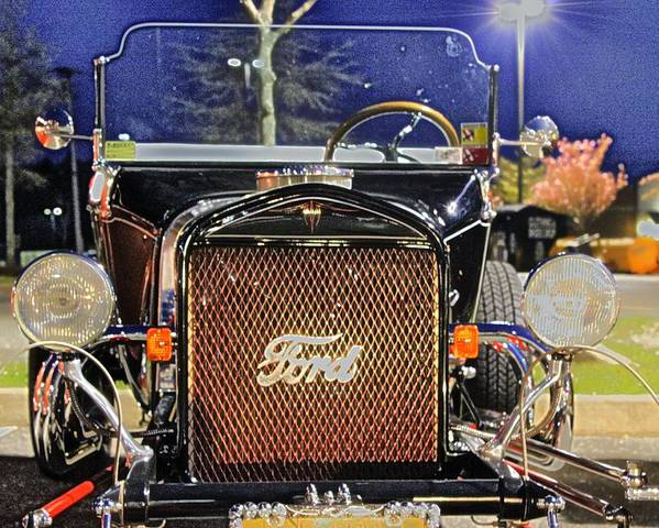 Ford Hot Rod Poster featuring the photograph Ford Black Hot Rod Old School by Pictures HDR