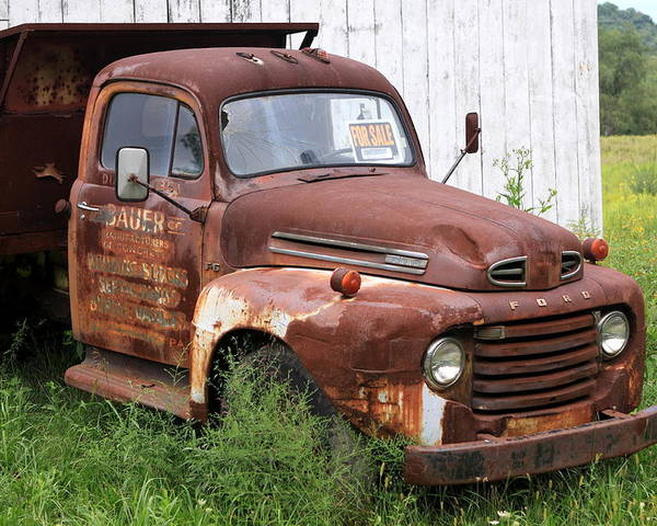 Antique Ford Truck Poster featuring the photograph Ford F1 by Dennis Morgan
