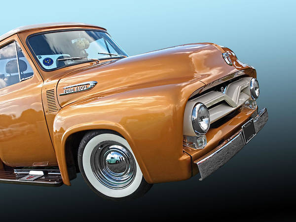 Ford F100 1955 In Bronze Poster