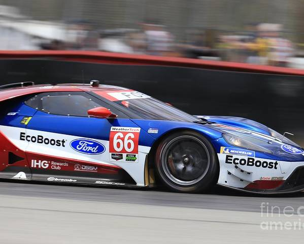 Race Poster Featuring The Photograph Ford Gt Chip Ganassi Racing By Douglas Sacha