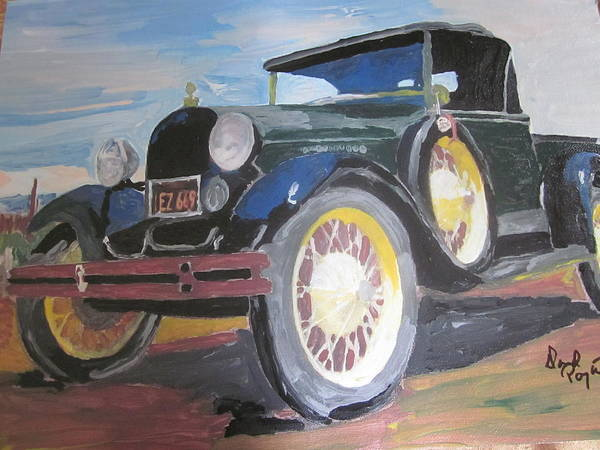 Ford Poster featuring the painting Ford Truck by David Poyant Paintings