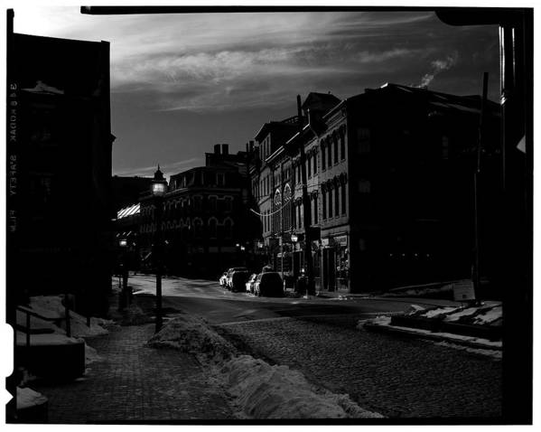 Black And White Poster featuring the photograph Fore Street by Filipe N Marques