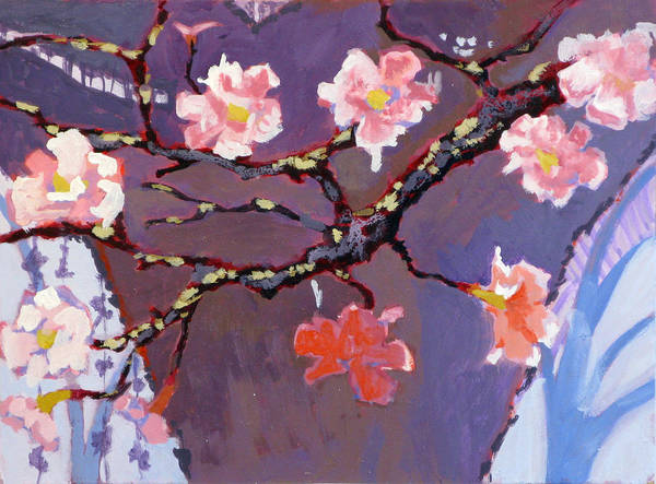 Blossom Poster featuring the painting Forest In Bloom by Robert Bissett
