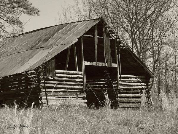 Black And White Poster featuring the photograph Forgotten Hay Barn by Judy Waller