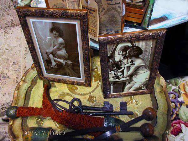 Susan Vineyard Poster featuring the digital art Forgotten Ladies by Susan Vineyard