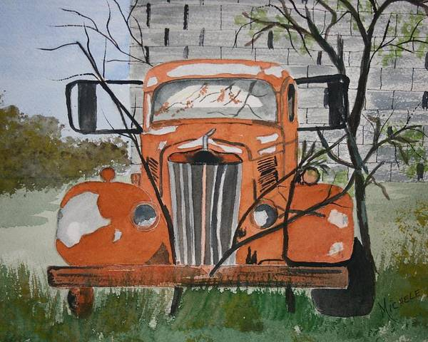 Truck Poster featuring the painting Forgotten by Michele Turney