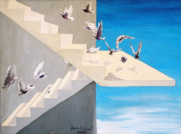 Birds Poster featuring the painting Form Without Function by Steve Karol