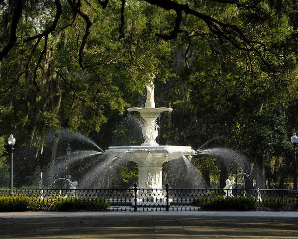 Fine Art Photography Poster featuring the photograph Forsyth Fountain 1858 by David Lee Thompson