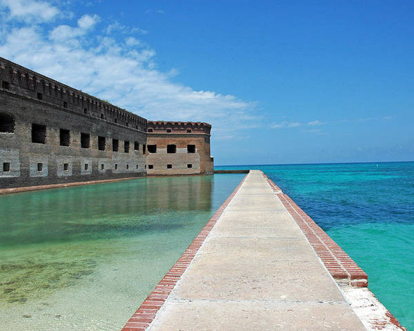 Fort Jefferson Poster featuring the photograph Fort Jefferson Dry Tortugas by Susanne Van Hulst