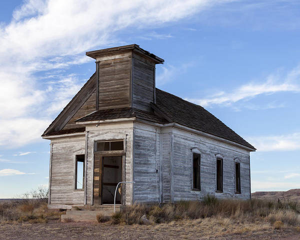 Abandoned Building Poster featuring the photograph Fort Sumner - Abandoned Church by Liza Eckardt