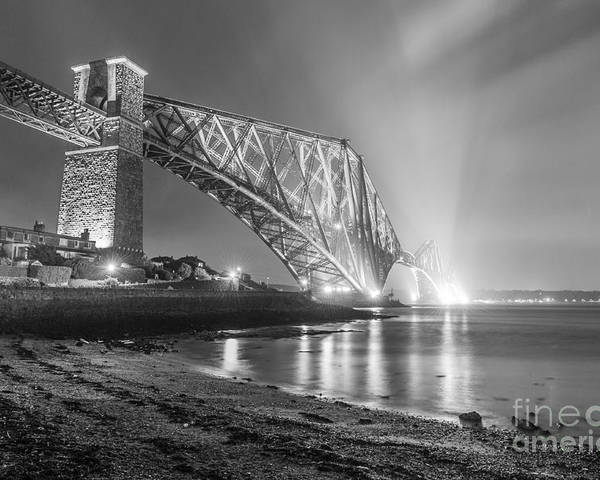 Scottish Poster featuring the photograph Forth Bridge Landscape by Valerio Poccobelli