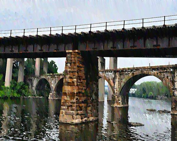 Bridge Poster featuring the photograph Four Bridges Of East Falls by Bill Cannon