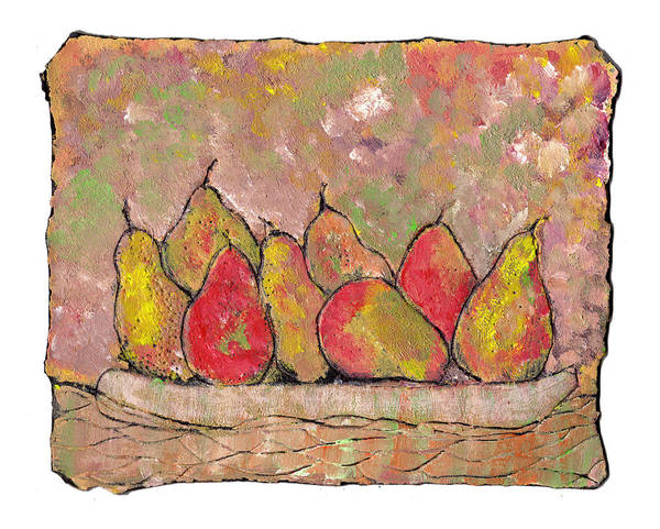 Pears Poster featuring the painting Four Pair Of Pears by Wayne Potrafka