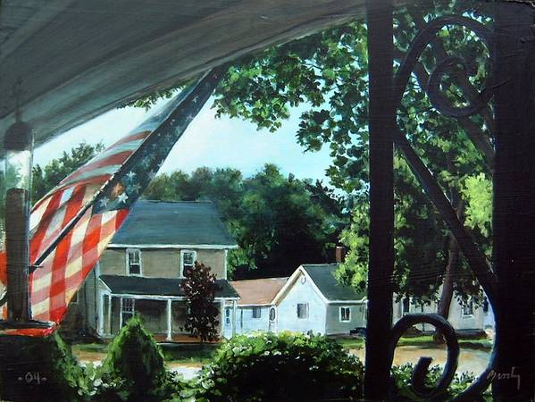 Landscape Poster featuring the painting Fourth Of July Morning by William Brody