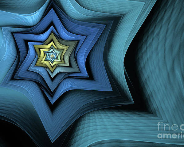 Fractal Poster featuring the digital art Fractal Star by John Edwards