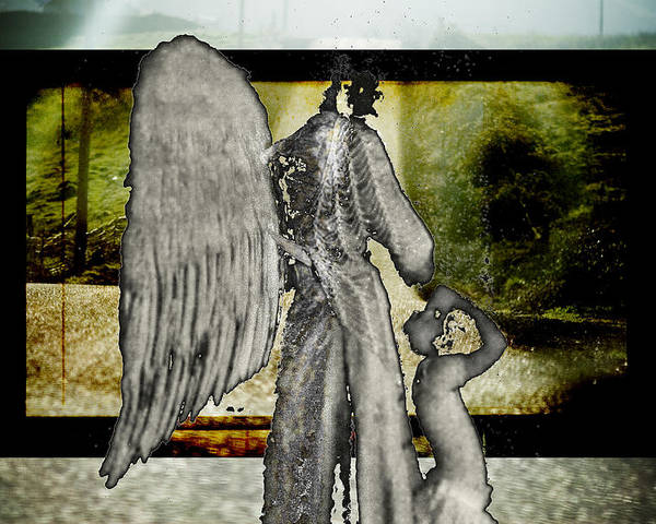 Digital Poster featuring the photograph Framed Angel by Tony Wood