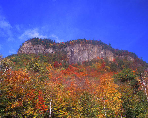New Hampshire Poster featuring the photograph Frankenstein Cliffs Crawford Notch by John Burk