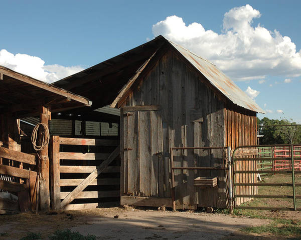 Barn Poster featuring the photograph Frank's Place by Jerry McElroy
