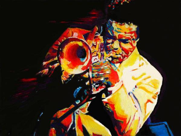 60s Poster featuring the painting Freddie Hubbard by Vel Verrept