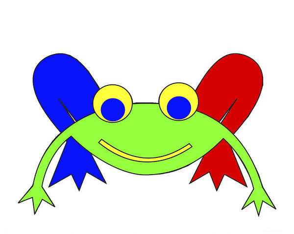 Frederic The Frog. Frederic Poster featuring the digital art Frederic the Frog by Asbjorn Lonvig