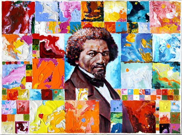 Frederick Douglass Poster featuring the painting Frederick Douglass by John Lautermilch